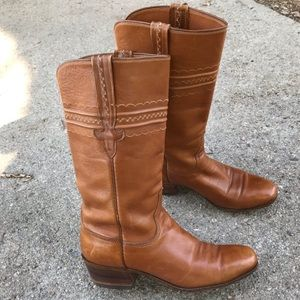 Vtg Lucchese Leather Women's Cowboy Western Boots